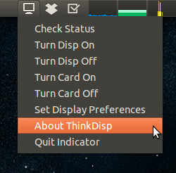 thinkdisp menu